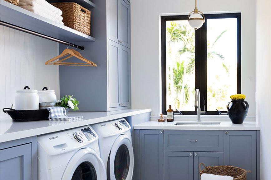 Split Level laundry Room