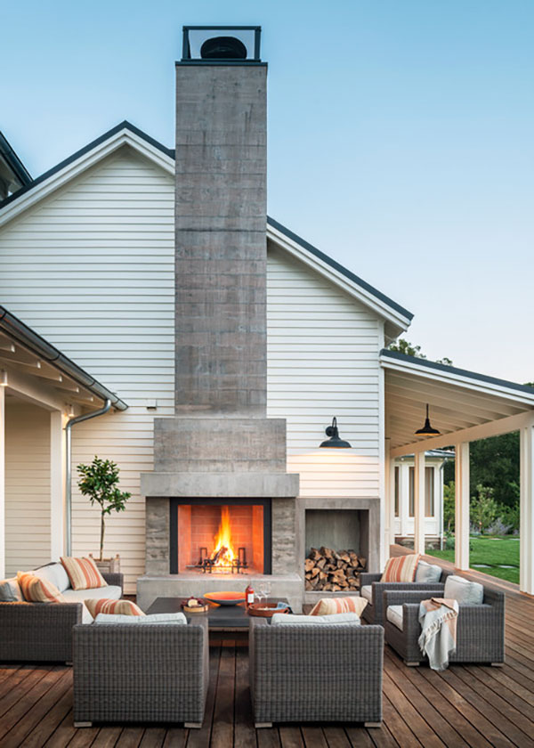 Outdoor Fireplace by Moller Architecture