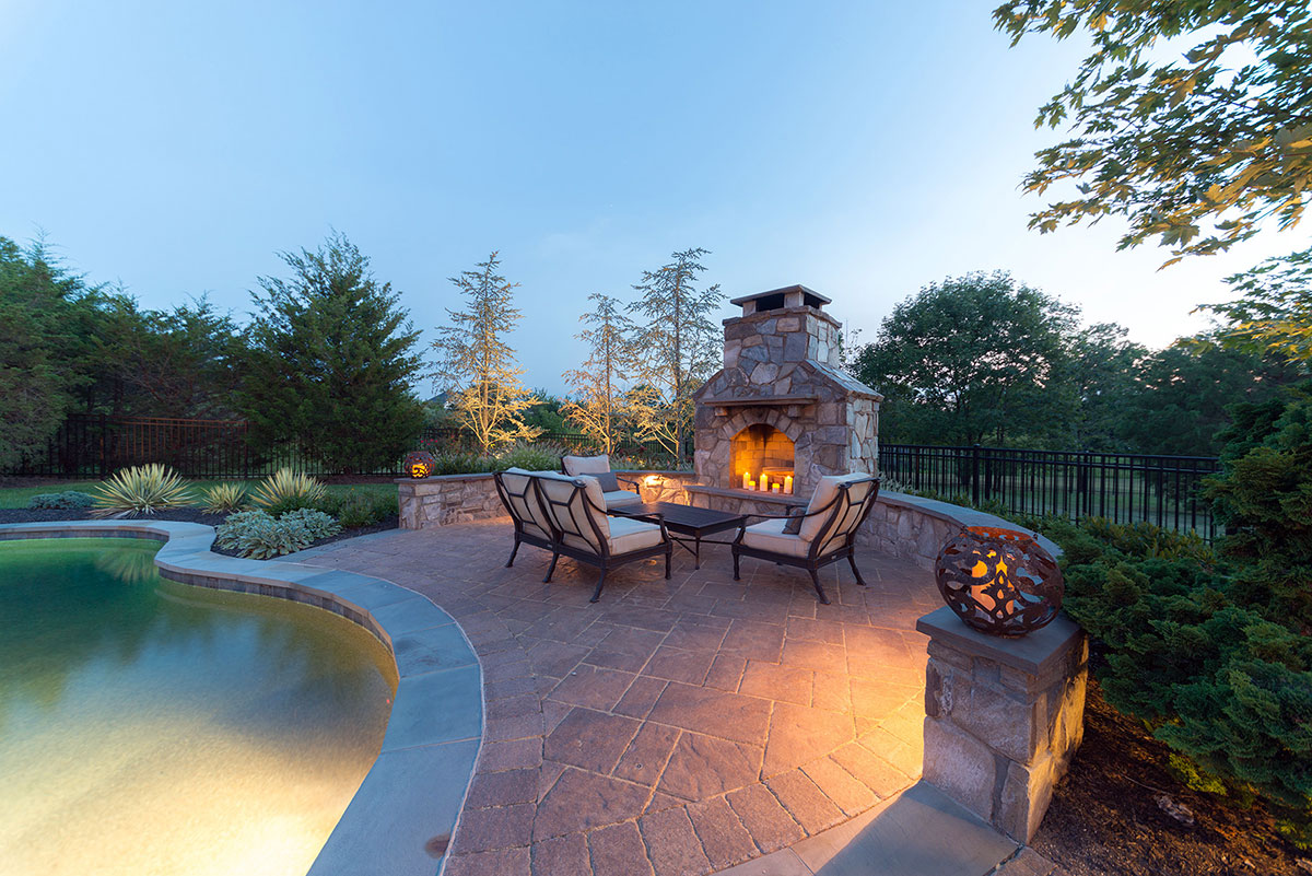 Outdoor Fireplaces by Kane Landscapes